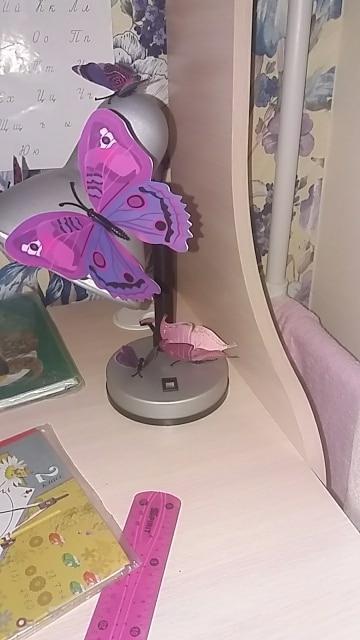 Набор №49 из 12шт декоративных 3-D бабочек фиолетовые - фото 5
