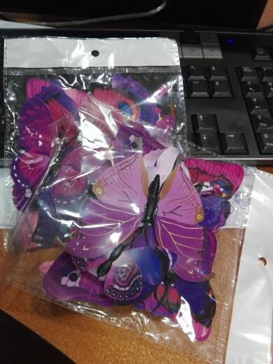 Набор №49 из 12шт декоративных 3-D бабочек фиолетовые - фото 8