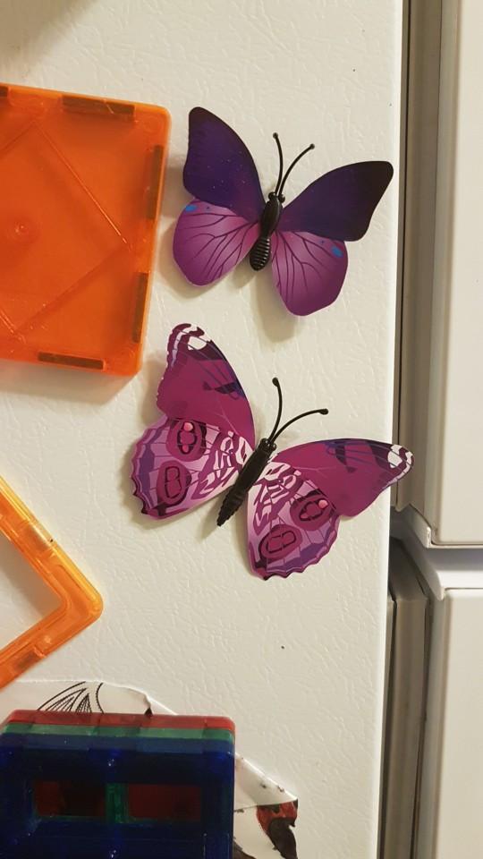 Набор №49 из 12шт декоративных 3-D бабочек фиолетовые - фото 9