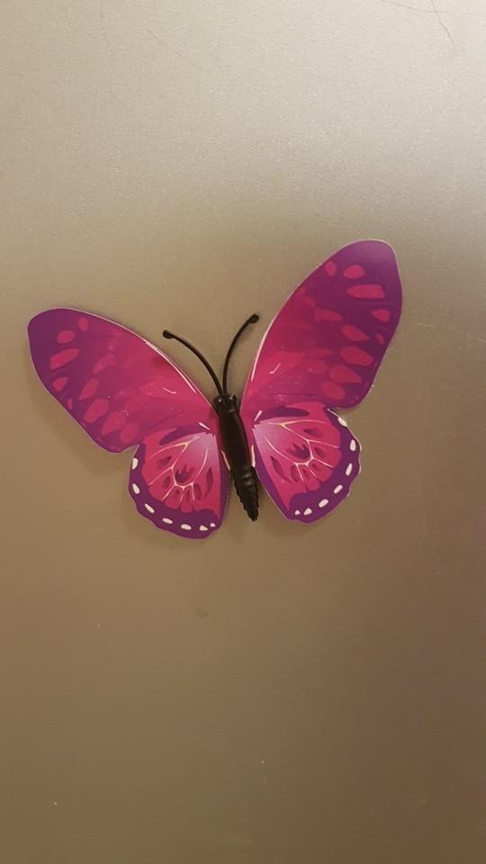 Набор №49 из 12шт декоративных 3-D бабочек фиолетовые - фото 10