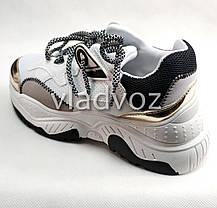 Подростковые модные кроссовки для девочки на девочек белые 38р., фото 3