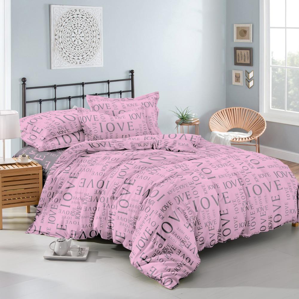 Двуспальный комплект постельного белья евро 200*220 хлопок  (11704) TM KRISPOL Украина