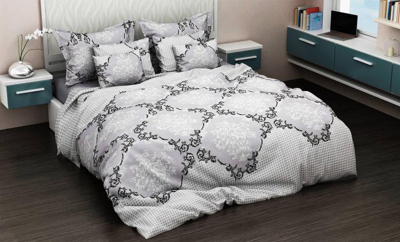 Двуспальный комплект постельного белья евро 200*220 хлопок  (11725) TM KRISPOL Украина, фото 2