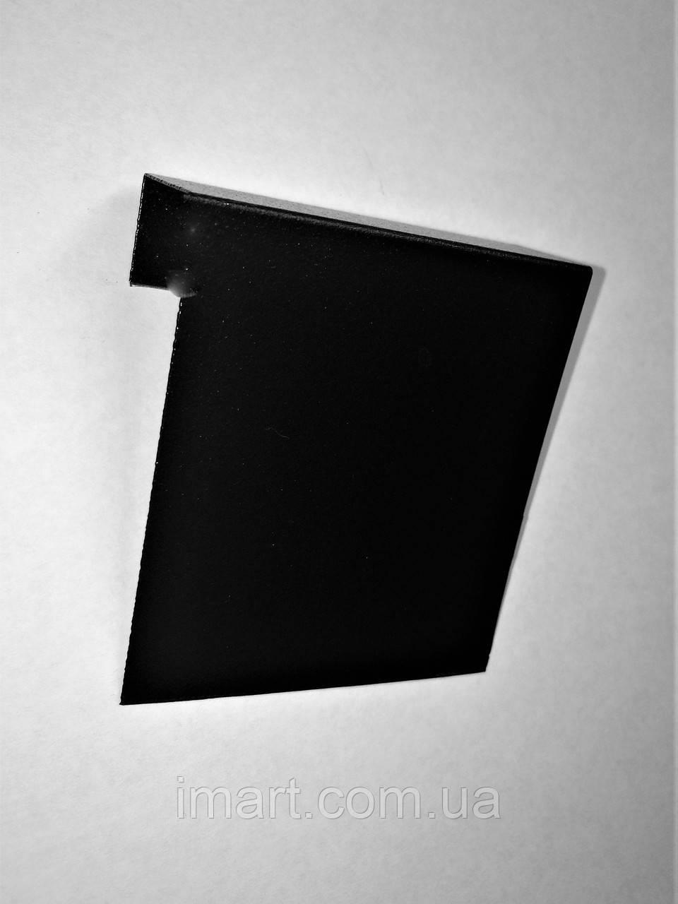 Меловой ценник 10х10 см П-образный на полку. Грифельная табличка на стеллаж. Для надписей мелом и маркером.
