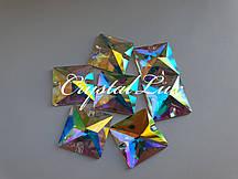 Стразы пришивные Lux Квадрат 10мм. Crystal AB