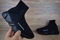 Женские кроссовки в стиле Balenciaga KNIT SOCK, черные 37 (23,5 см)