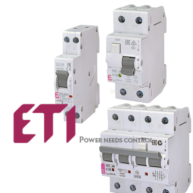 ETI Дифференциальные автоматические выключатели