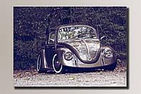 Картина на холсте Volkswagen Beetle 76*54 см.