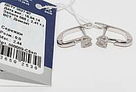 Золотые серьги с бриллиантами 880089-Сбел
