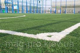 "Искусственное поле для мини-футбола 22х42 м ""под ключ"" газон Китай 40 мм, фото 3"