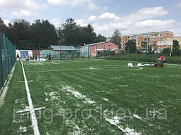"Искусственное поле для мини-футбола 22х42 м ""под ключ"" газон Китай 40 мм, фото 2"