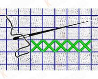 Сетка для вышивки Аида 16 арт. КФО - 5001