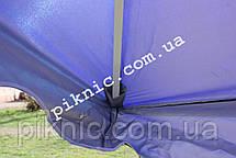 Зонт торговый 2,5х2,5м (Серебро+Клапан). Мощный зонт для уличной торговли, садовый Синий!, фото 2