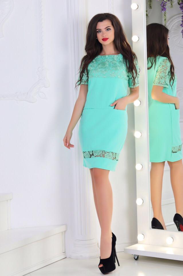 Сукня мереживо в кольорах 74405
