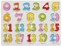 Развивающая игра цифры  ( сортер) деревянный пазл