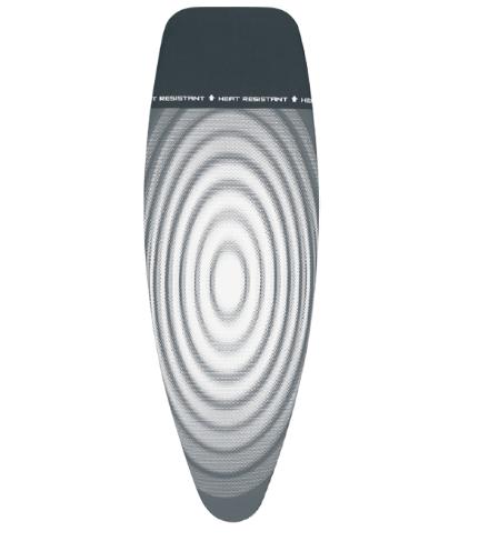 Чехол для гладильной доски Brabantia, 135x45 см, серый с кругами (266782)