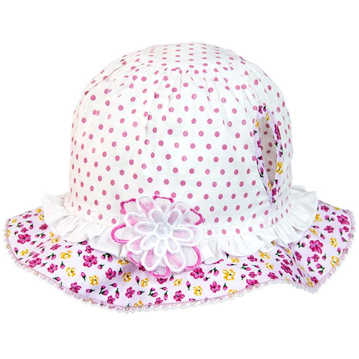 Панамка под хвостики летняя розовая