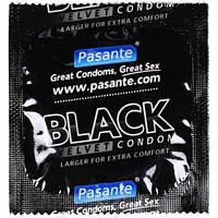 Чорного кольору з сперміцидної мастилом PASANTE BLACK VELVET, 1 шт.