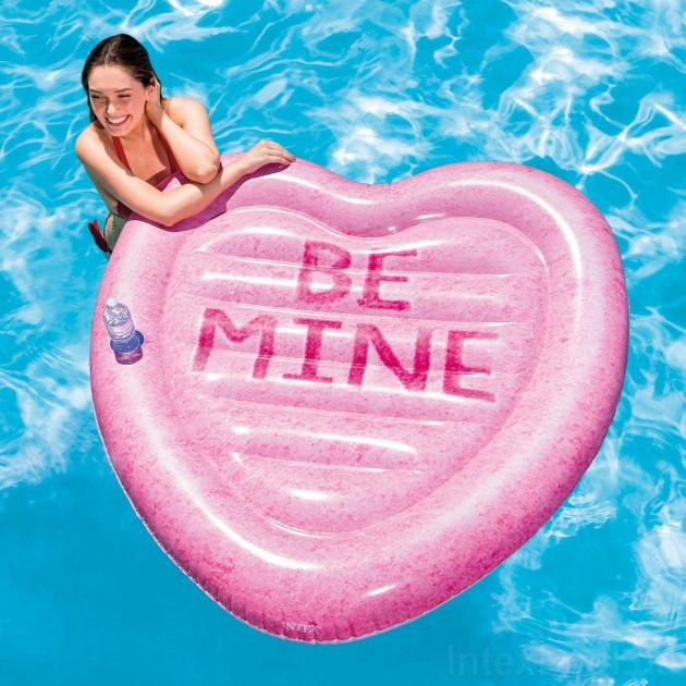 Пляжный надувной матрас Intex 58789 Карамельное сердце