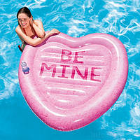 Пляжный надувной матрас Intex 58789 Карамельное сердце, фото 1