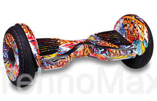 "Гироскутер / Гироборд Smart Balance Elite Lux 10,5"" Граффити +Cумка (Распродажа 2017 Года)"
