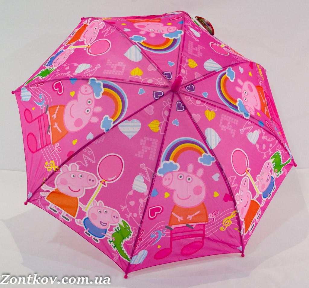 """Детский зонтик трость с изображением свинки """"Пеппа"""" от фирмы """"Rainproof"""""""