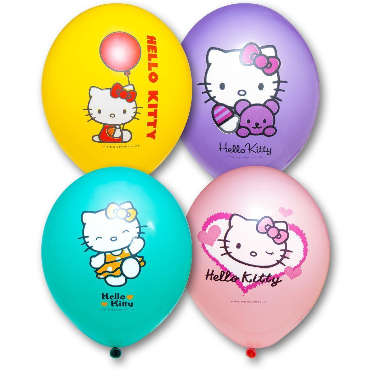 "Латексные шары круглые с рисунком 14"" 36см ""Hello Kitty"" ""BELBAL"" Belgium"