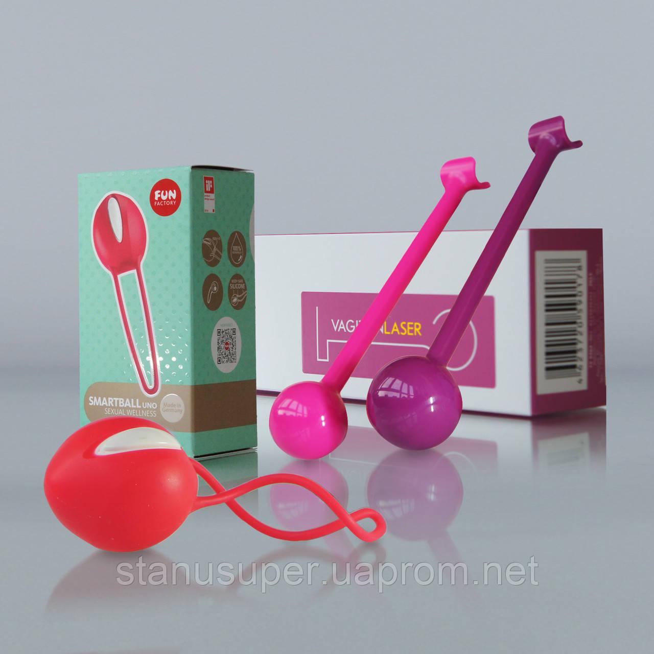 Минамальный набор для начинающих интимные тренировки по системе Вагитон: VAGITON Laser + SmartBall Uno.