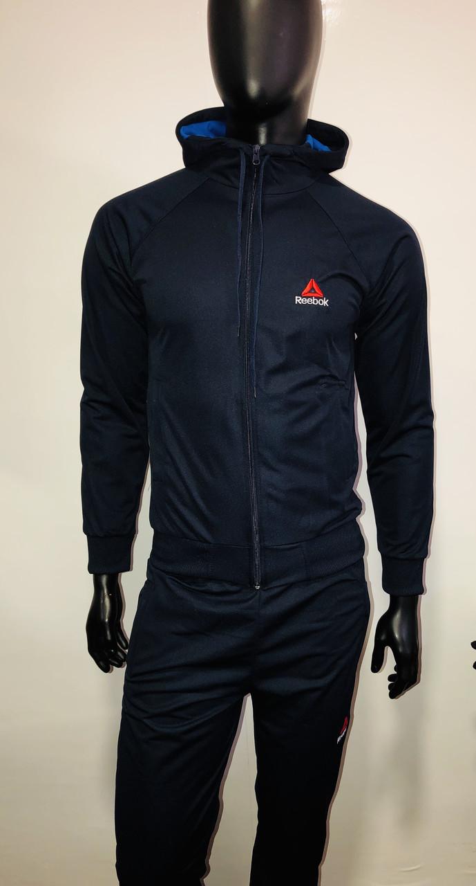 74ae08ce Мужской спортивный костюм Reebok темно синий цвет купить не дорого ...