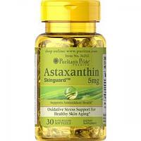 Антиоксиданты Puritans Pride Astaxanthin 5 mg, 30 гелевых капсул