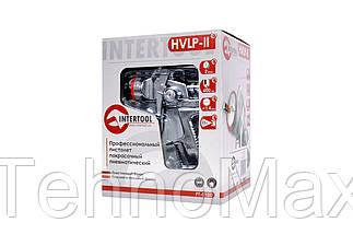 Пневмопистолет лакокрасочный HVLP-II Intertool - верхний бак 600 мл x 1,4 мм, фото 3