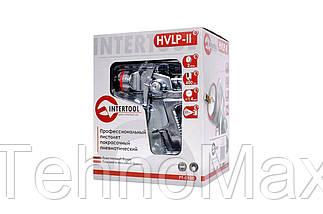 Пневмопистолет лакокрасочный HVLP-II Intertool - верхний бак 600 мл x 1,4 мм, фото 2