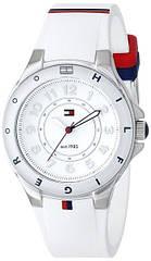 Tommy Hilfiger Женские часы из нержавеющей стали 1781271 с белой силиконовой лентой Оригинал