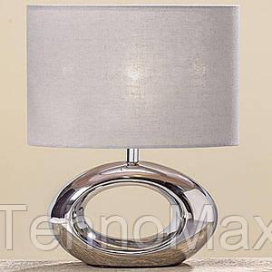 Светильник прикроватный декоративный h33см серебрянный керамика 480165