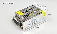 Блок питания 12V 5А 60W в металлическом корпусе