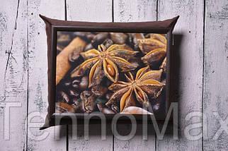 Поднос на подушке BST 210002 47*37 коричневый Кофейный натюрморт