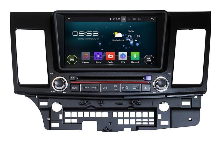 Штатна магнітола для Mitsubishi Lancer X Incar AHR-6190 Android 5.1 процесор 1.6 ГГц Quad-core (4-ядерний)