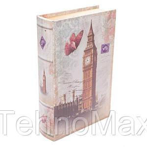 Книга-сейф BST 490158 33×23×7 см разноцветная Лондон и бабочка