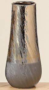 Ваза настольная для цветов коричневая керамика 480144