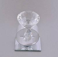 Подсвечник стеклянный декоративный на зеркальной подставке SН029
