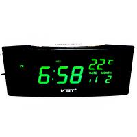 Электронные настольные говорящие часы VST-719W-2