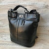 Женский модненький кожаный рюкзак сумка, фото 1