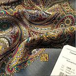 Горожанка 1836-1, павлопосадский платок шерстяной  с шелковой бахромой, фото 9