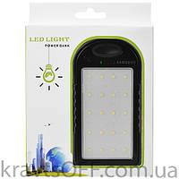Power Bank Samsung 8000mAh USB(1A) с солнечной батареей, индикатор заряда, фонарик 20SMD, ультрафиолет -131