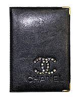 Обложка Черный для большого паспорта бренды Шанель