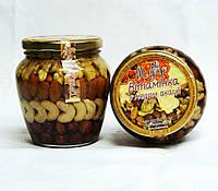 Мікс горіхів з медом акації, 0,55л