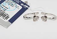 Золотые серьги с бриллиантами 880138-Сбел
