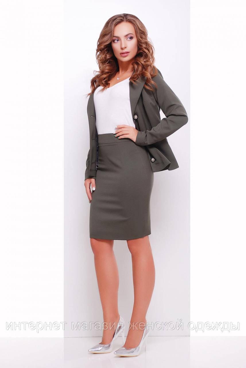 Женская прямая юбка карандаш в офисном стиле