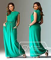 Женское длинное платье Фиджи / бирюза