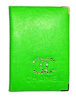 Обложка Салатовый для большого паспорта бренды Шанель